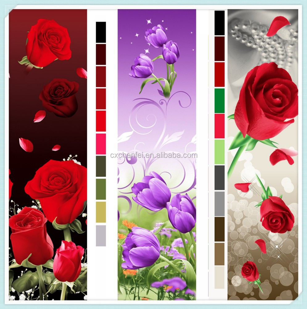 flowers print100% polyester tela polyester fabric disperse printing fabric for bedsheet from changxing rong