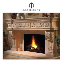 PFM top 5 popular electricity burning fireplace stone carving