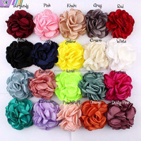 8CM 20 Colors Newborn Vintage Soft Artificial Fabric Flowers For Headbands Chic Hair Flowers For Children Accessories,YDKM05