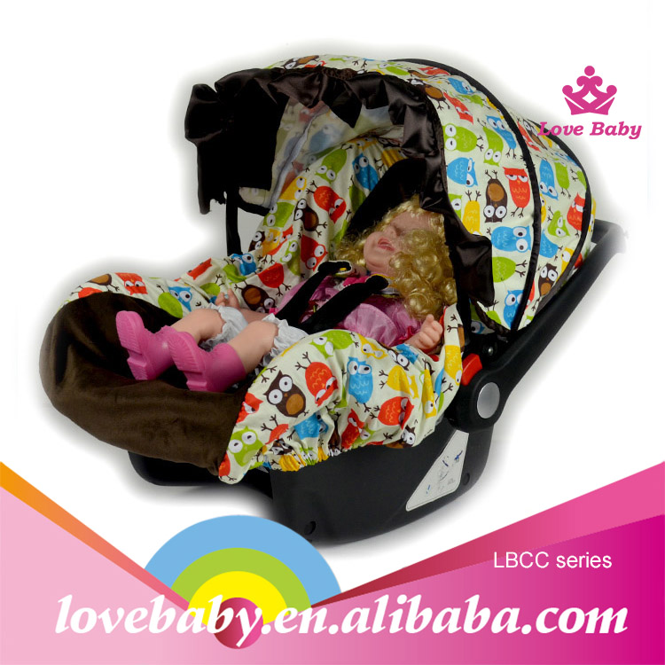 2015 Fashion cute chevron sheepskin baby car seat cover colorful cotton stroller car seat cover
