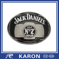 quality custom brand name belt buckle for promotion