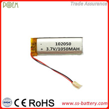 High safety performance rechargeable polymer 3.7v li-ion battery for samsung