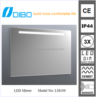 NEW LED light bathroom lighted one way mirror(china mirror factory)