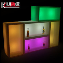 Outdoor cuboid plastic led 16 colors changing flower pot ice bucket for events planting LED pot