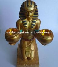 Egyptian style candle holder/resin candle holder/candle holder decoration