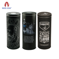 Nice-can Customized Metal Round Wine Packing Box Decorative Gift Liquor Tin Can Package Wholesale Alcohol Bottle Box Wine Tin