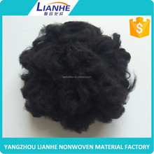 1.4*38mm dope dyed Bright black triangle solid polyester staple fiber
