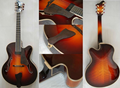 7 strings fully handmade solid wood jazz guitar
