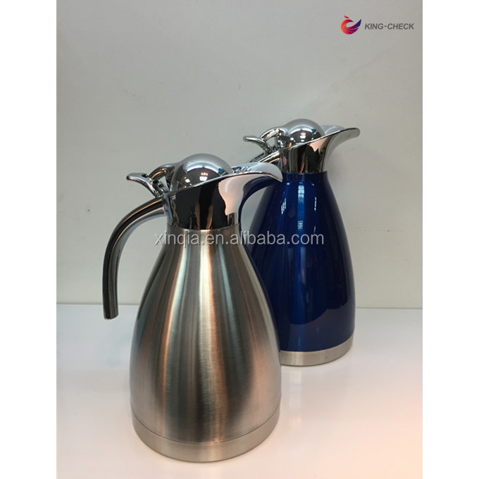 Guangdong tableware 1.2L stainless steel vacuum flask arabic coffee pot dallah