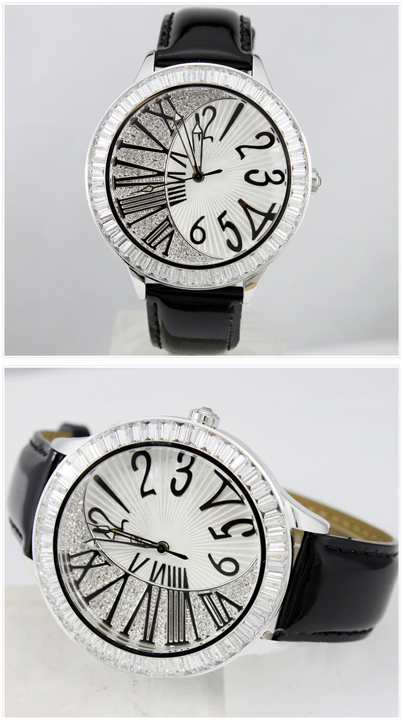 Assisi ladies watches 2015 Large Rome number Dial Sliver 3Atm Stainless Steel Back Watch