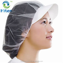 Disposable Snood Cap/Nonwoven peaked cap with hair net