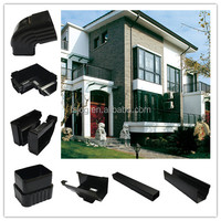 PVC Rain Gutter for Building's Roofing Rainwater Drainage System/pvc guttering and downpipes