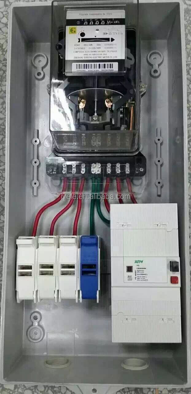 To supply single phase and Three phase prepaid energy meter box /cabinet