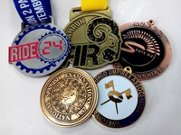 3mm thickness 2 inch mental medals with 2 sides design 60% FedEx discount