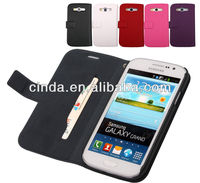 Genuine Real Leather Case Flip Cover Card Slot Wallet for Samsung Galaxy Grand Duos i9080 i9082