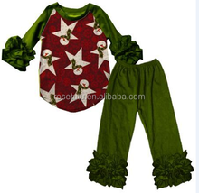 two piece outfits women ruffle raglan shirt of toy printed cute baby outfits for girls