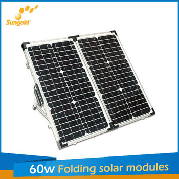 sungold 2*30w folding solar panel for caravan boater and camper