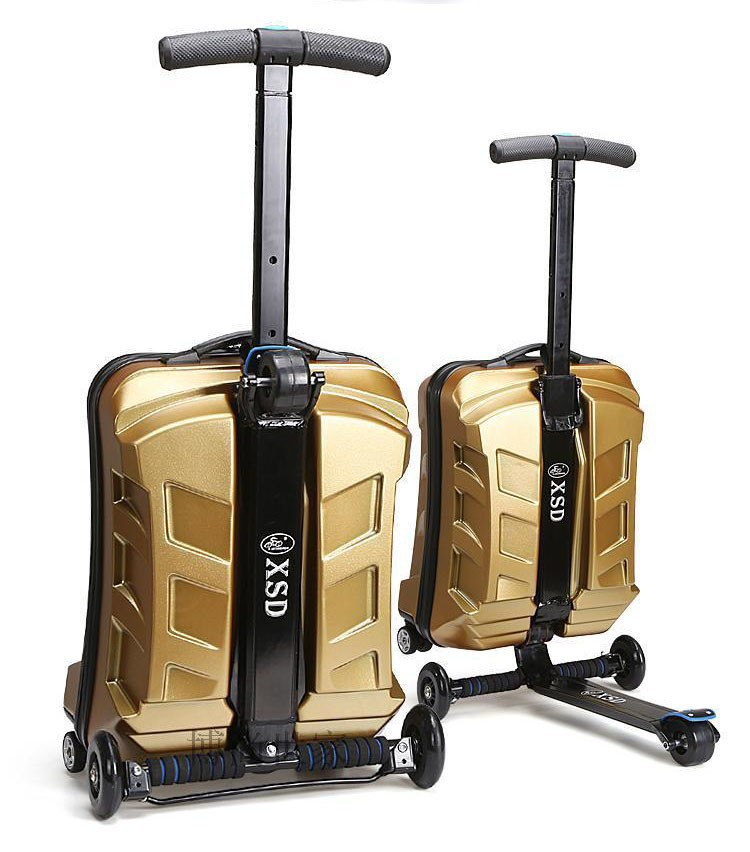 Adjustable and Foldable alibaba china comfortable abs luggage