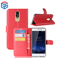 Litchi Grain Premium PU Flip Wallet Leather Case For Cubot Note Plus with Card Holder