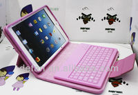 New arrival Leather Case Silicone Bluetooth Keyboard for iPad mini
