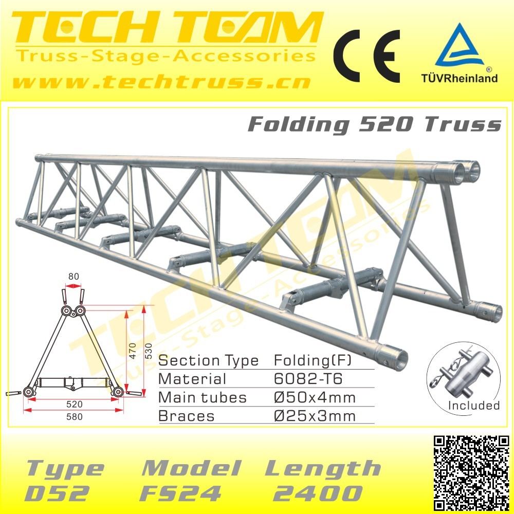 Tent Roofing Truss Tower System , concert stage roof truss