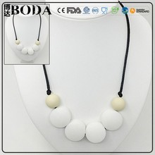 China Wholesale Bisuteria/Fashion Silicone Teething Necklace Bisuteria