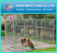 Temporary metal outdoor dog fence
