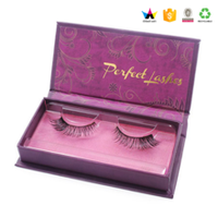 Luxury Cardboard Gift Eyelash Packaging Box With Magnet