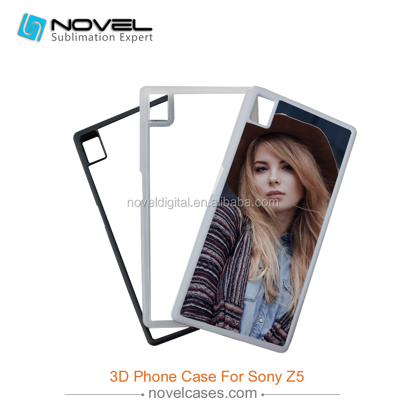 2016 Customized 2D Blank Sublimation Rubber Phone Case for Sony Xperia Z5, DIY Silicon/TPU Phone Cover