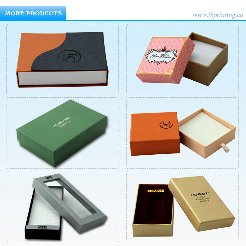 Wholesale paper decorative cardboard jewelry storage boxes for Small cardboard jewelry boxes with lids