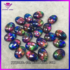 Machine cut colored faceted large glass synthetic gems