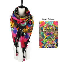 2018 Hot Sale Fashion Women Big Square Tassel Spring Scarf Parrot Leopard Printed Cotton Fringe Scarf