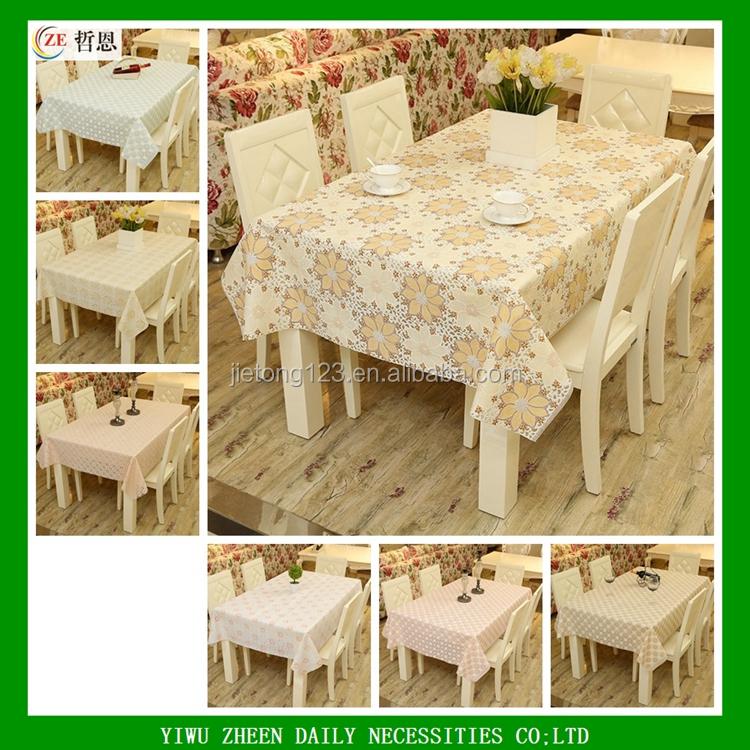 Rectangle Vinyl Lace Non Slip Tablecloths Table Cloth