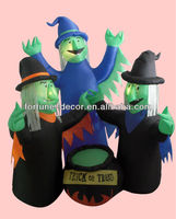 180cmH inflatable Witch Family Halloween decoration