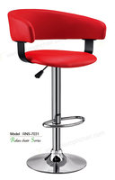 Triumph High quality leisure bar stool / swivel counter stool / Leather bar stool short backrest