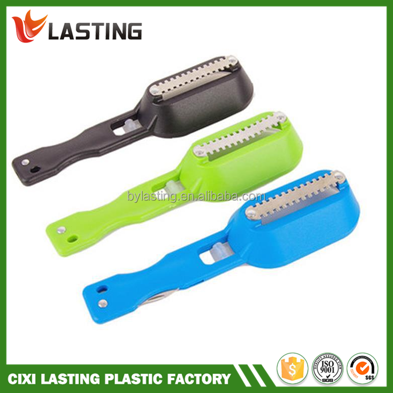 Kitchen tool cleaning fish skin steel fish scales brush for Fish cleaning tools