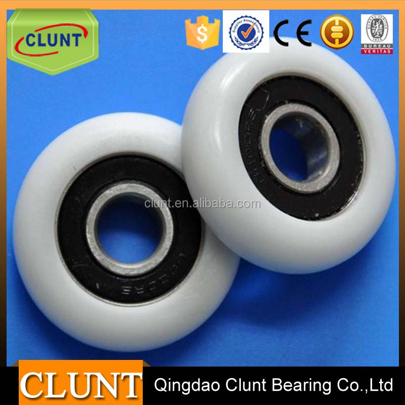 10 years factory deep groove ball roller plastic pulley bearing