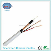 Factory best price cctv camera cable rg6 coaxial cable with 2 power cable