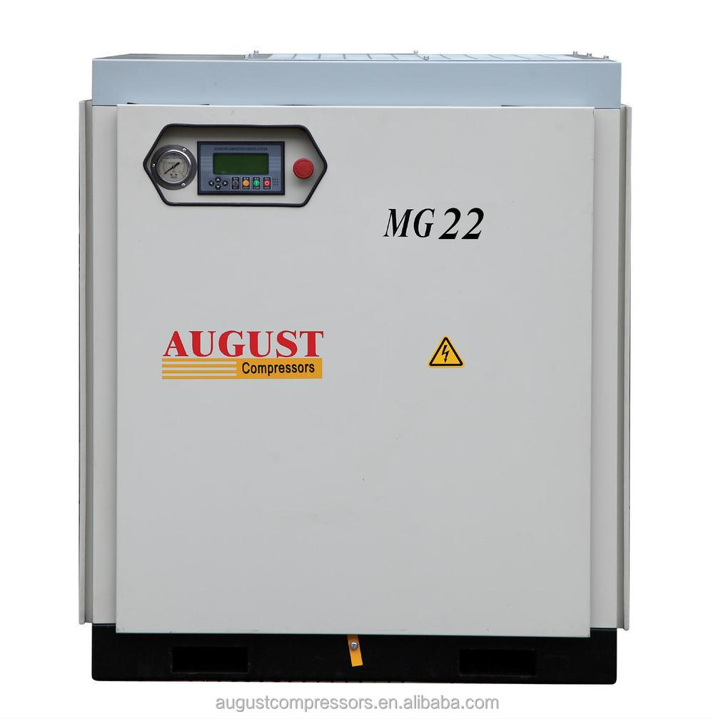 MG22B 22KW/30HP 10 BAR AUGUST stationary air cooled screw air compressor Hot Sales Offer