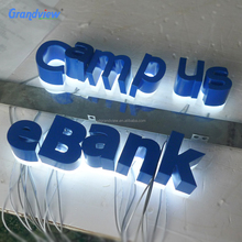Building illuminated acrylic Led box sign metal backlit signage with clear acrylic letters