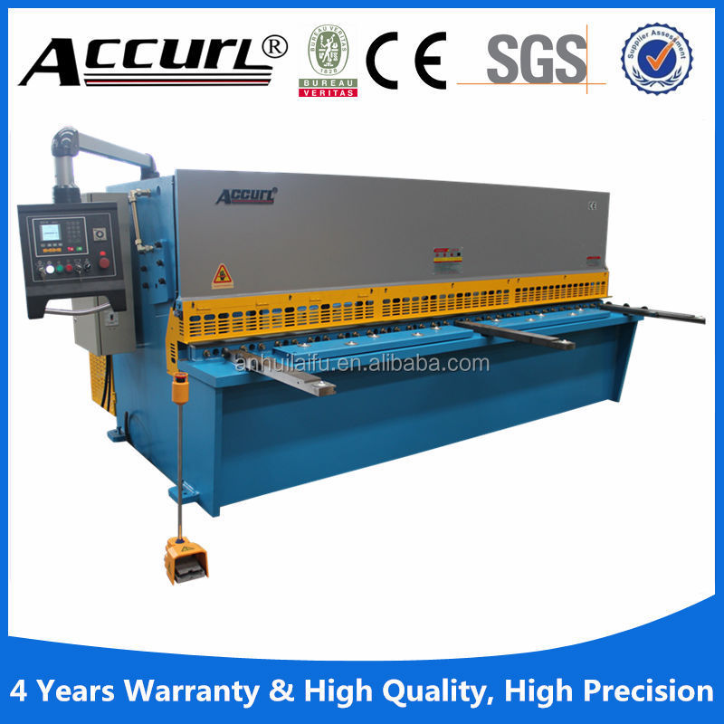 hydraulic sheet metal guillotine machine , 10ft hydraulic metal shears , steel plate shearing machine