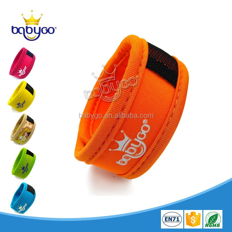 Nature ingredient adjustable waterproof mosquito repellent bracelet for infants &pregnant