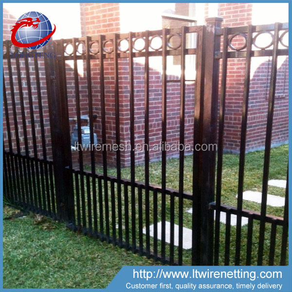 Anping wholesale high quality faux wrought iron fence,easily assembled wrought iron fence