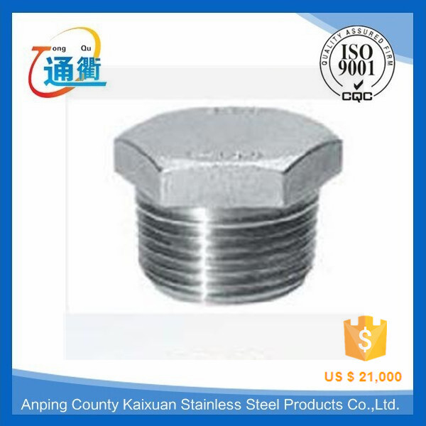 male threaded casting stainless steel hex pipe plug 1/2 npt