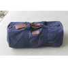 Canvas pu leather duffel travel luggage bag