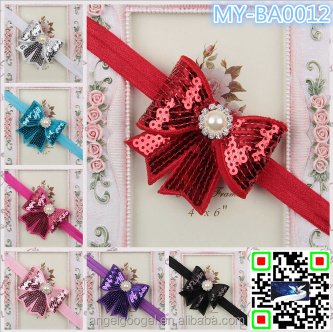 3 '' glitter hair bows IN STOCK HOT SELLING MY-BA0012