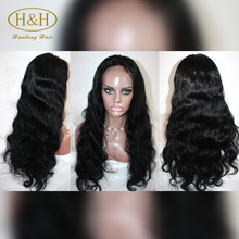 Wholesale Unprocessed Virgin 8--30 Inches Body Wave Full Lace Brazilian Human Hair Wig with Baby Hair