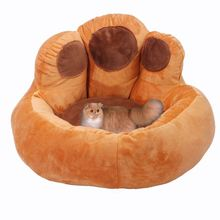RoblionPet 2018 Bear Paw Pet Nest Warm Teddy Kennel Ultra Plush High Quality Not Deformed Backrest Type Dog Bed