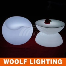 led light round coffee tables and chairs