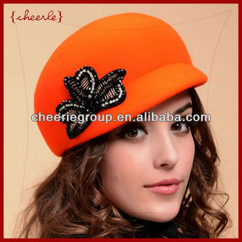 2013 design new style pretty elegant ladies fashionable felt hat